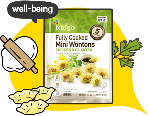 well-being Bibigo Fully Cooked Mini Wontons